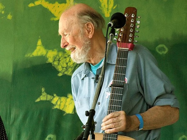 Pete Seeger is best known for spearheading an American folk revival