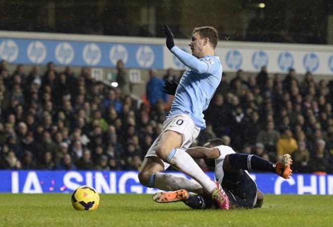 Edin Dzeko Manchester City Danny Rose Tottenham