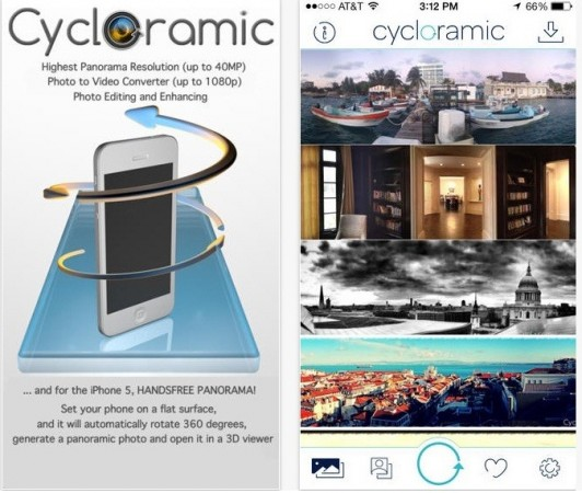 Cycloramic Iphone app