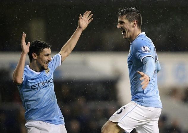 Jesus Navas Stevan Jovetic Manchester City