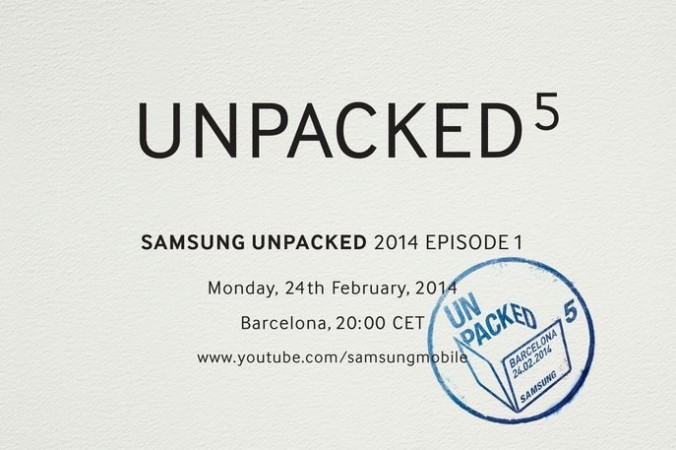 Samsung Unpacked 2014 Live Stream: Watch Galaxy S5 Launch Live Online