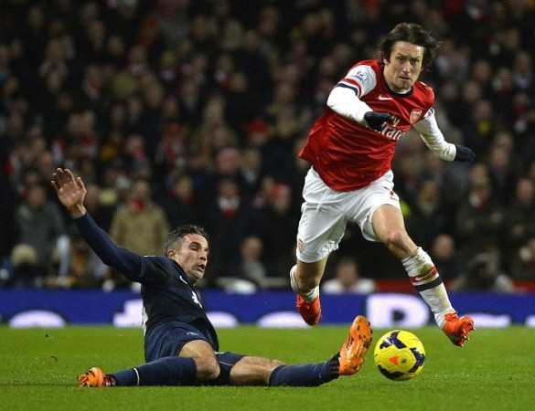 Tomas Rosicky Arsenal Van Persie Manchester United