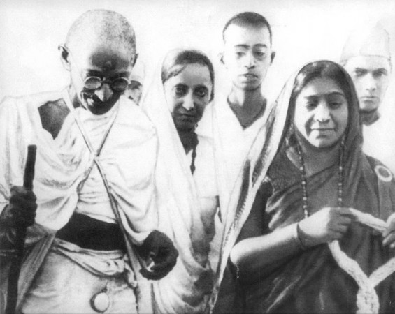 Mahatma Gandhi and Sarojini Naidu during the Salt Satyagraha of 1930