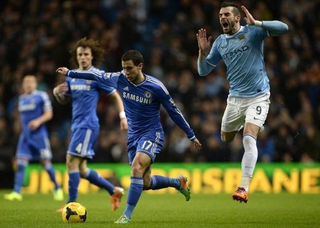Eden Hazard Chelsea Manchester City Alvaro Negredo