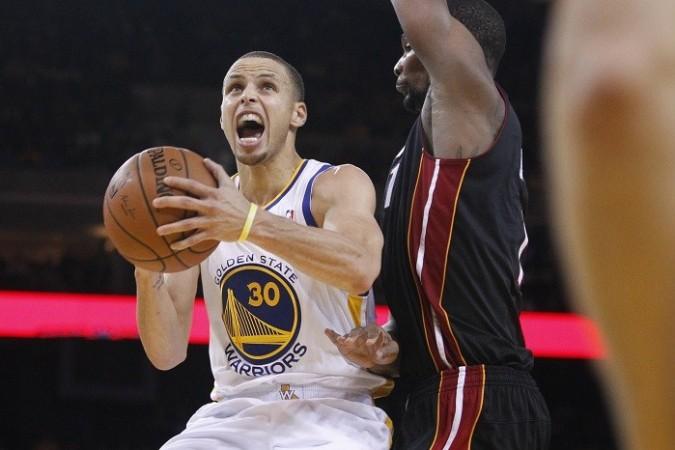 Stephen Curry Golden State Warriors Chris Bosh Miami Heat