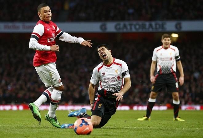 Alex Oxlade-Chamberlain Luis Suarez Arsenal Liverpool