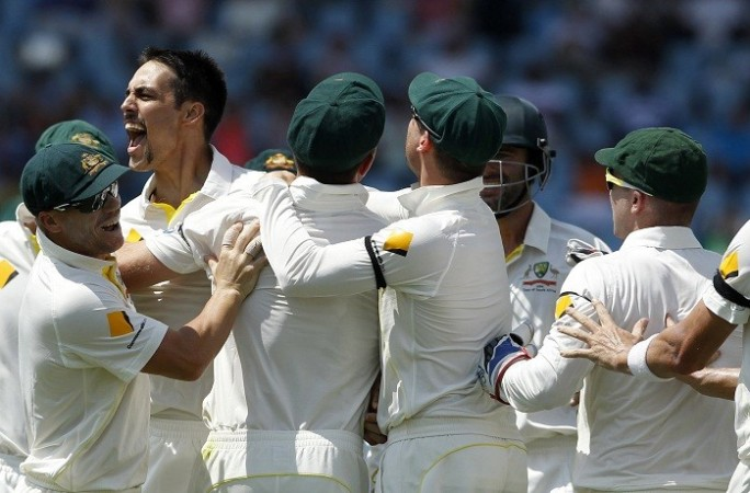 Mitchell Johnson Australia David Warner