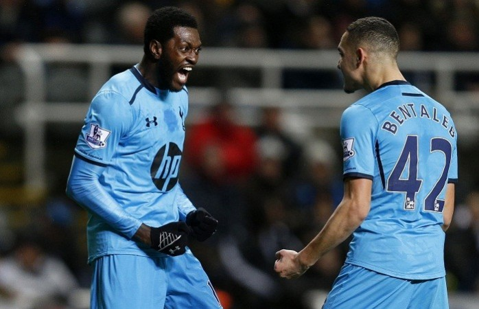 Emmanuel Adebayor Nadil Bentaleb Tottenham