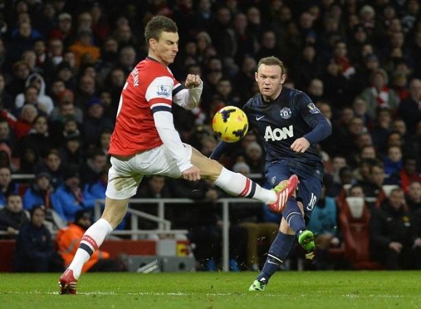 Wayne Rooney Manchester United Laurent Koscielny Arsenal
