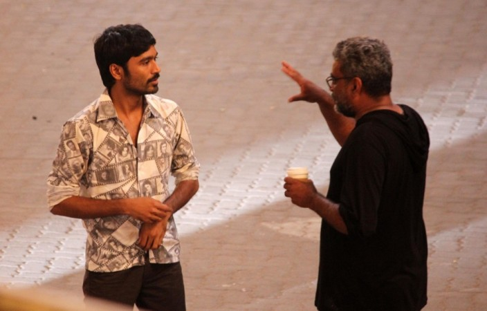 Dhanush with Balki (Varinder Chawla)