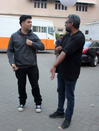 Karan Johar with Balki (Varinder Chawla)