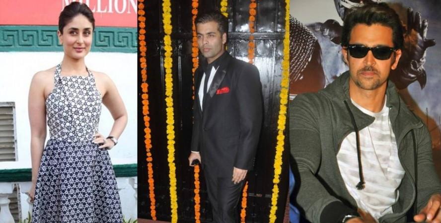 Kareena Kapoor Khan, Karan Johar and Hrithik Roshan