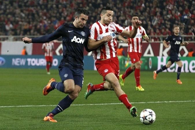 Robin Van Persie Manolas Manchester United Olympiakos