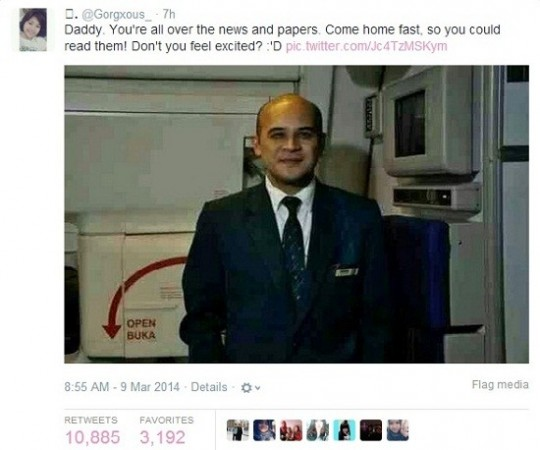 "Pilot's Teen Daughter Tweets,""Daddy. You're all over the news and papers. Come home fast."""