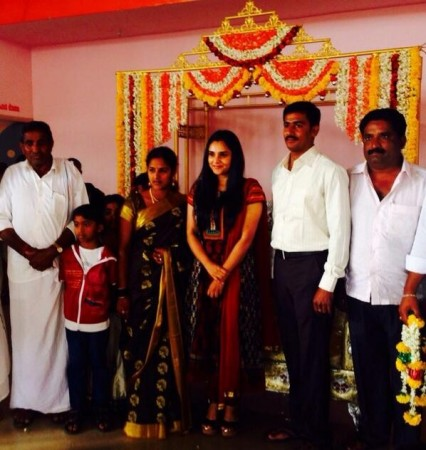 Ramya in a Wedding as Part of Campaign