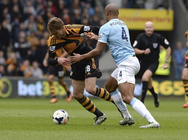 Kompany Manchester City Jelavic Hull City