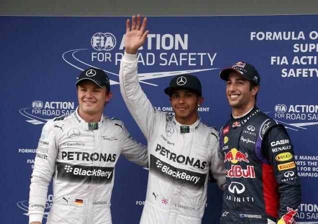 Hamilton Rosberg Ricciardo
