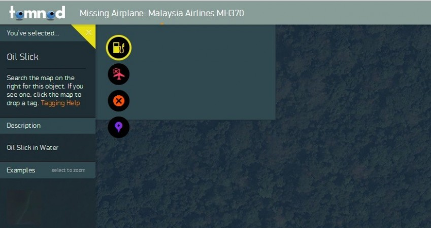Three million people have joined the hunt for the missing Malaysian Airlines flight MH370 in a massive crowdsourcing project by Digital Globe's Tomnod. (Website Screen Shot)