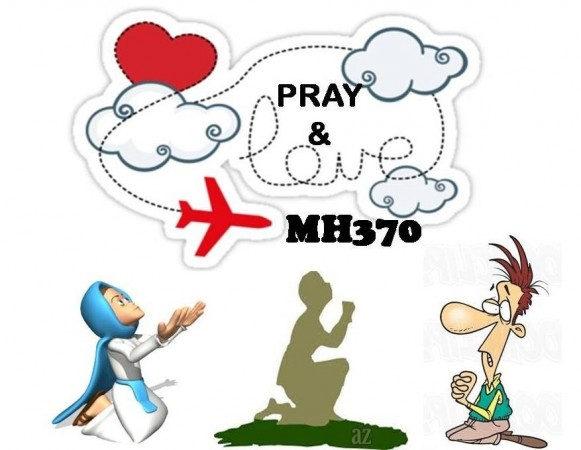 Prayer for MH370 from Facebook page 'MH370'