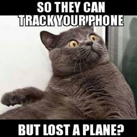 Meme circulating in social media criticizing authorities' inability to find the missing plane. (Facebook Photo)