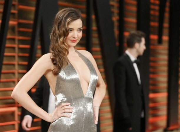 Model Miranda Kerr arrives at the 2014 Vanity Fair Oscars Party in West Hollywood, California March 2, 2014. REUTERS/Danny Moloshok