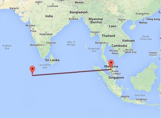 The distance between Malaysia and Maldives is 3170.74 km