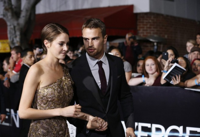 "Shailene Woodley and Theo James attend the premiere of ""Divergent"" in Los Angeles"