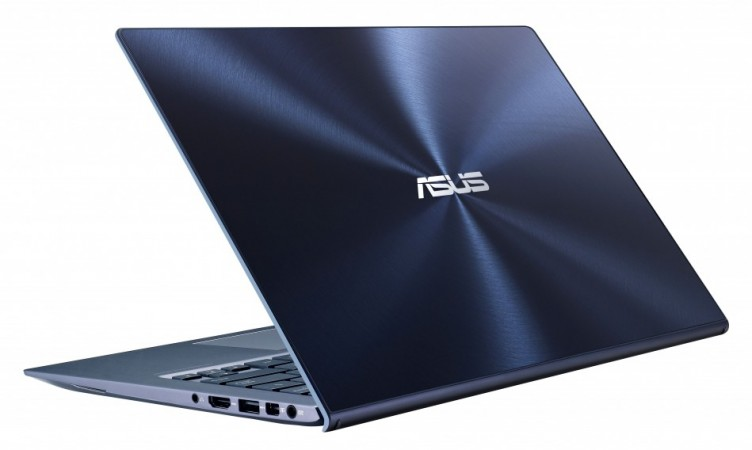 Asus Zenbook with scratch-resistant refined with crystalline glass and brushed metallic finish body