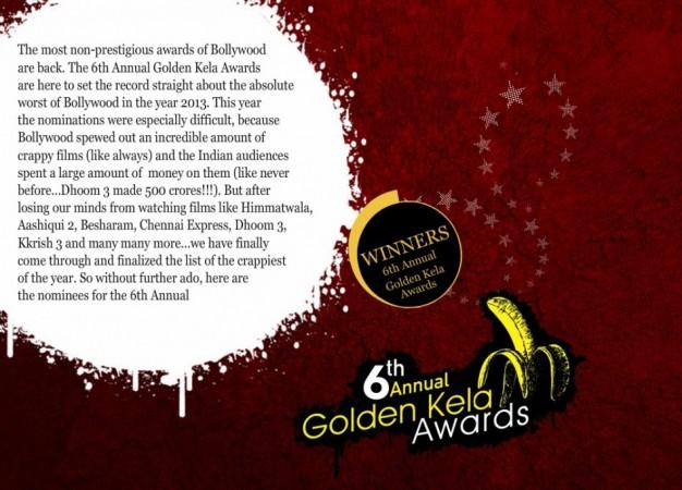 Screenshot of the official website of the Golden Kela Awards