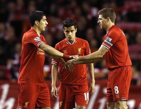 Suarez Gerrard Liverpool