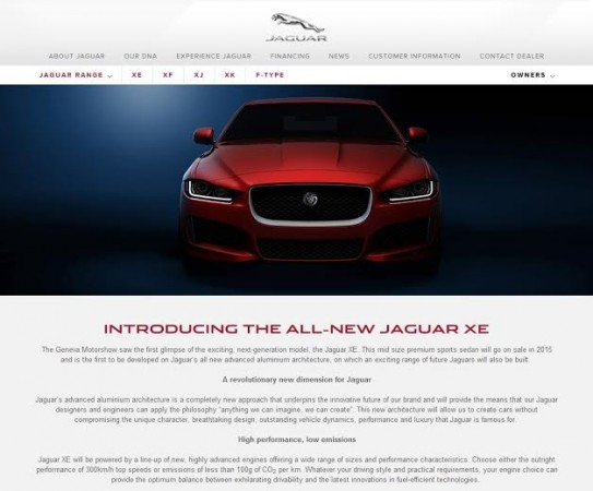 Jaguar XE Listed on India Website; Bookings Open for 2014 Jaguar XJ