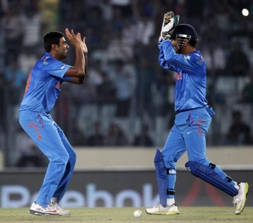 R Ashwin MS Dhoni India