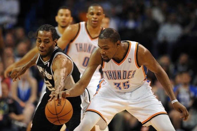 7cd790c81531 Oklahoma City Thunder forward Kevin Durant will look to continue his  25-point or over streak against the Houston Rockets. Reuters
