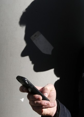 A man using his smartphone
