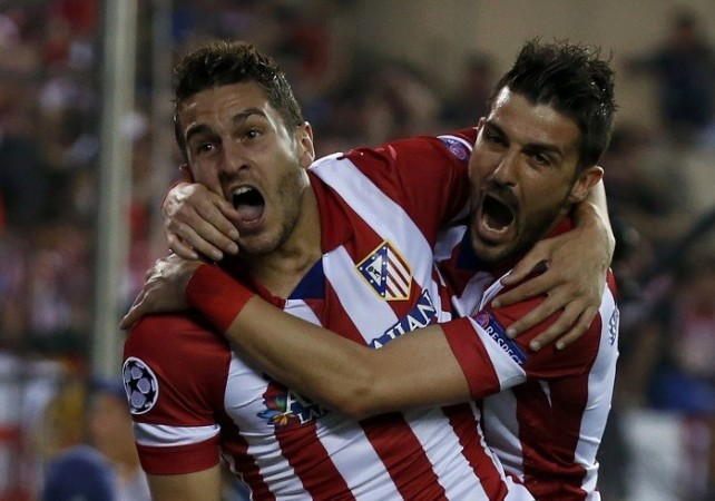 Koke David Villa Atletico Madrid