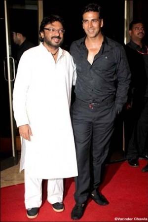 Sanjay Leela Bhansali and Akshay Kumar