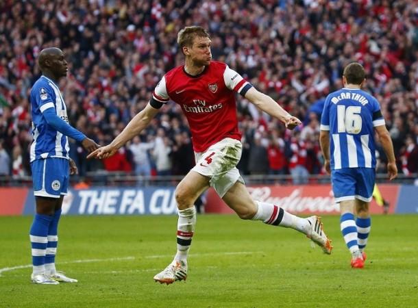 Per Mertesacker Arsenal Wigan