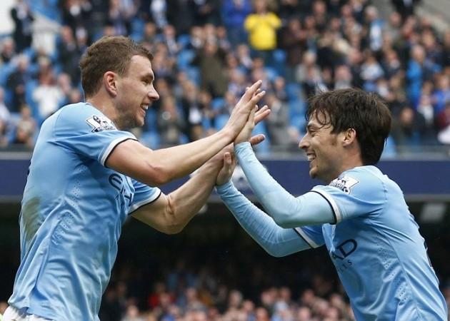 Edin Dzeko David Silva Manchester City