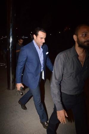 Saif Ali Khan was spotted sans his famous wife Kareena Kapoor Khan