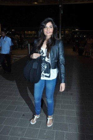 Richa Chadda is all smiles as she leaves for IIFA