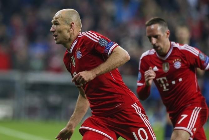 Arjen Robben Franck Ribery Bayern Munich
