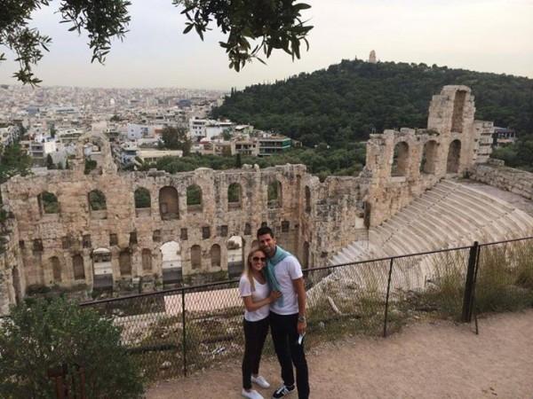 Djokovic and Jelena in Greece