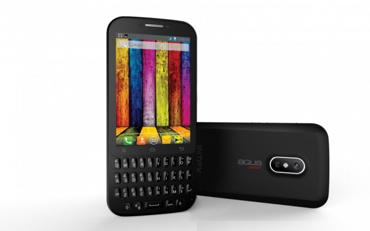 Intex Aqua Qwerty with Touch and Type Dual Functionality Launched in India; Price, Specification Details