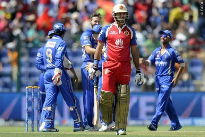 Yuvraj Singh RCB Rajasthan Royals
