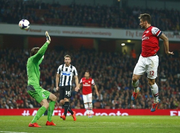Olivier Giroud Arsenal Tim Krul NEwcastle