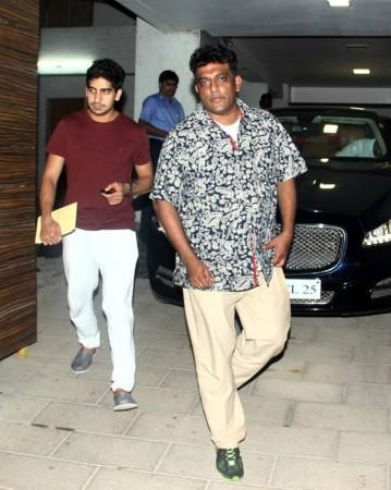 Ayan Mukerji and Anurag Basu at Aamir Khan's residence