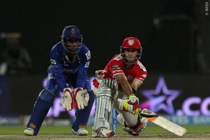 Glenn Maxwell Kings XI Punjab Sanju Samson Rajasthan Royals