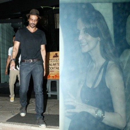 Sussanne Khan and Arjum Rampal Spotted Partying with Friends at a Mumbai Night Spot
