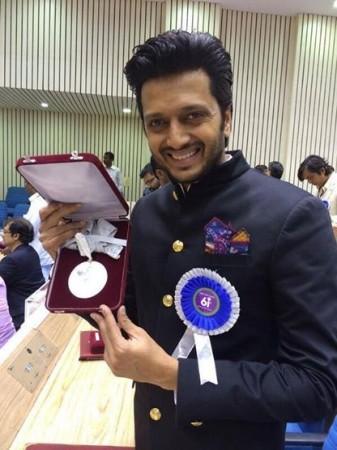 Ritesh Deshmukh received Special Jury Award for Marathi film