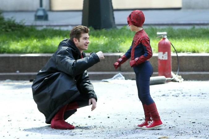 """Actor Andrew Garfield arrives for """"The Amazing Spider-Man 2"""" premiere in New York"""